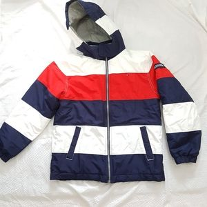 Tommy Hilfiger Boys Coat Striped Warm Large